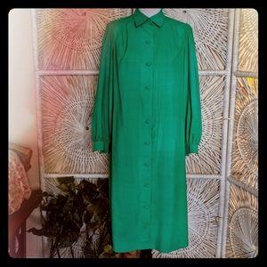 Dress: Vintage Simple Long Sleeve Secretary Shirt